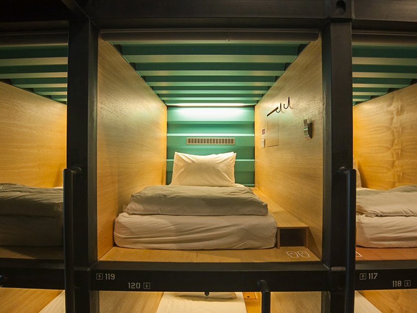 Capsule bedrooms, Capsule by Container Hotel