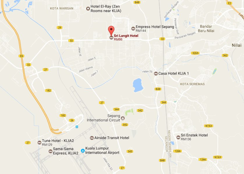 Sri Langit Hotel location map