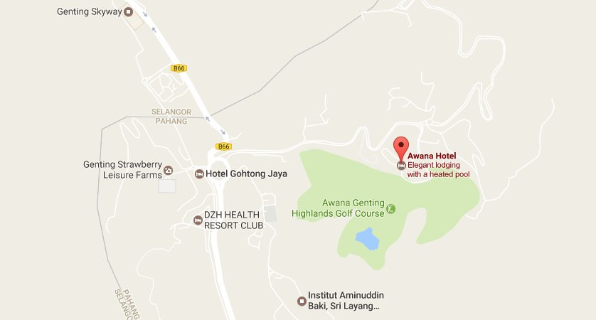 Map to Awana Hotel