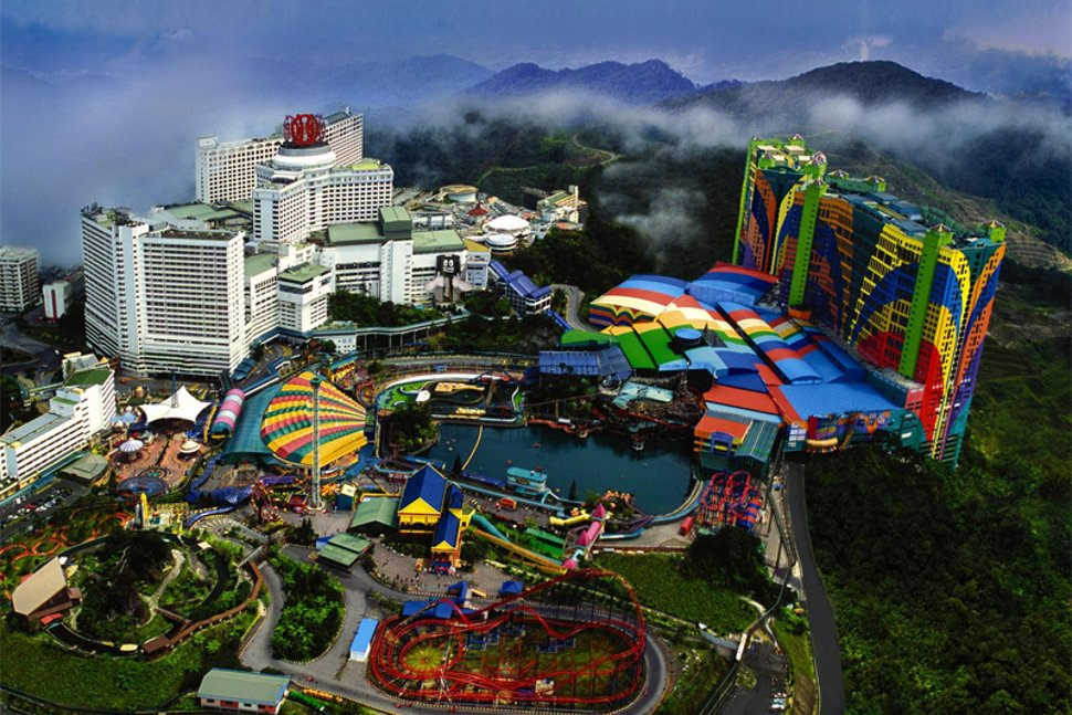 Aerial view of the Genting Highlands resort