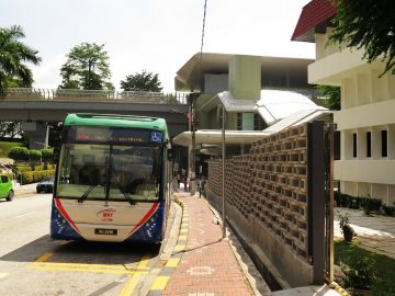RapidKL bus T801 waiting at entrance B