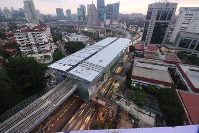 Aerial view of the Semantan Station.