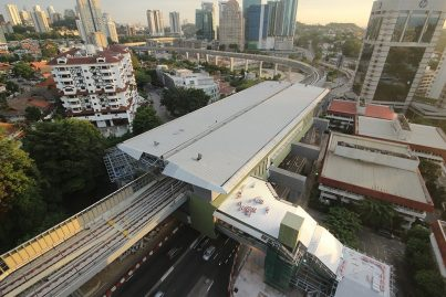 Evening aerial view of the Semantan Station.