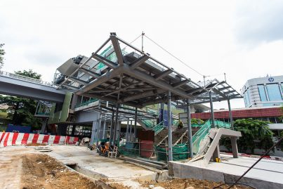 Entrance 2 of the Semantan Station under construction.
