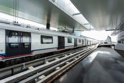 MRT trains undergoing tests at the Semantan Station.