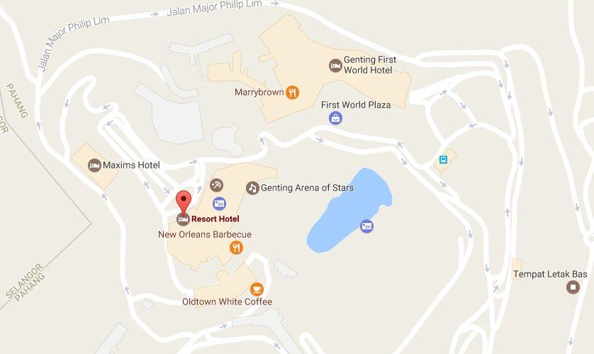 Resort Hotel location map