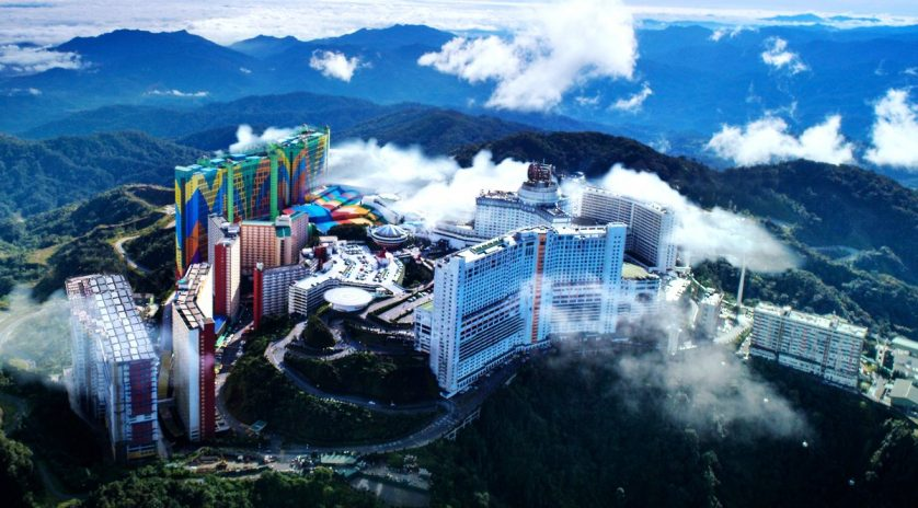 Aerial view of Genting Highlands resort