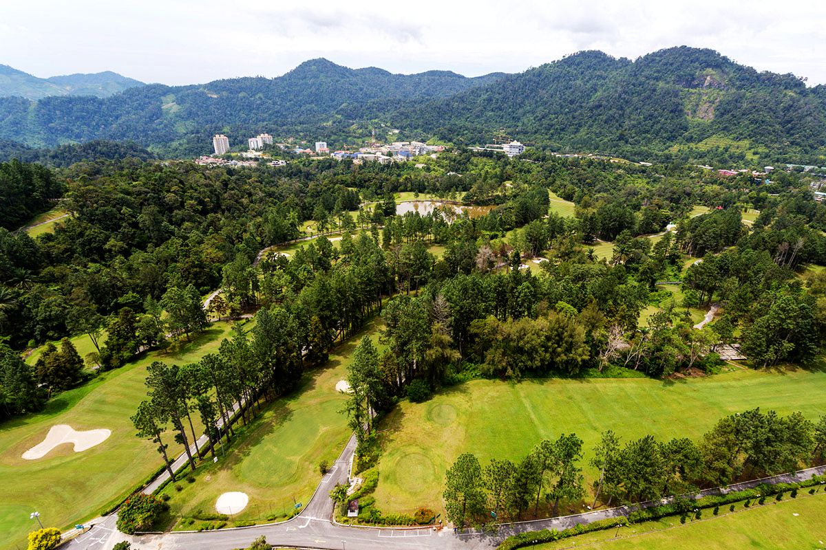 Aerial view of the Awana Genting golf course