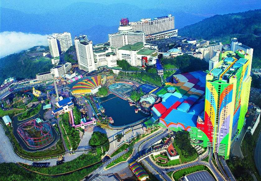 The aerial view of Genting Highlands prior to construction