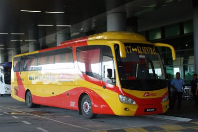 Aerobus at the klia2 airport