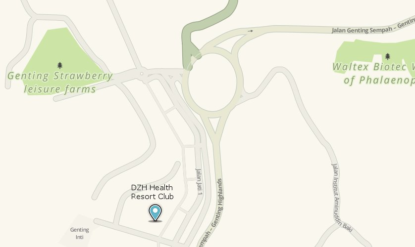 DZH Health Resort Club location map
