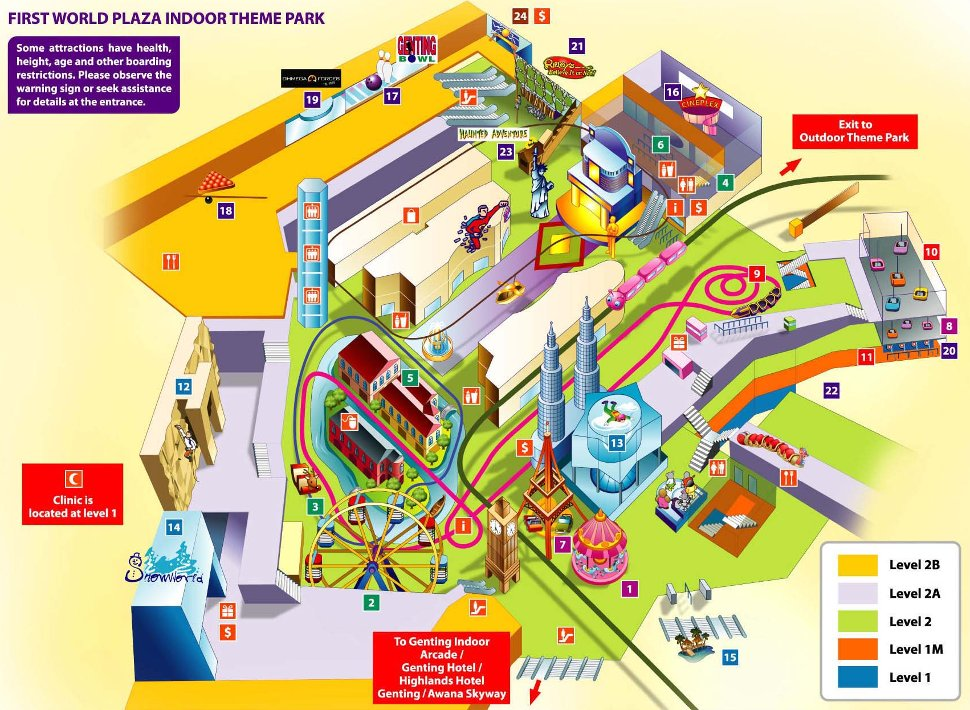 Layout of First World Indoor Theme Park