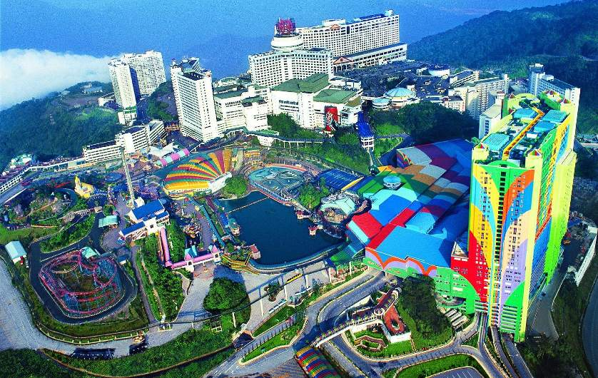 Sky view of Genting Highlands