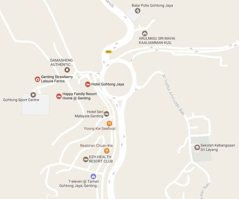 Gohtong Jaya & nearby places
