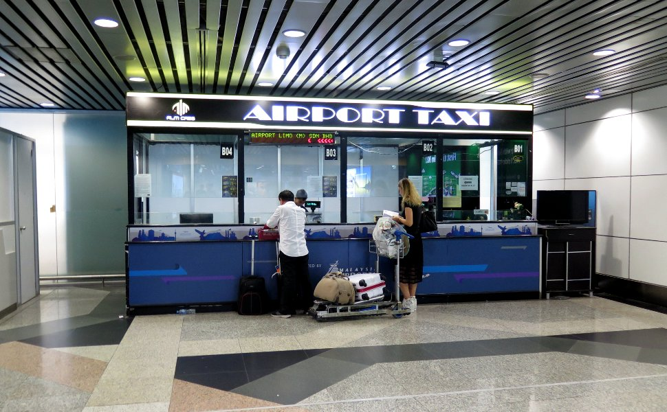 Taxi booking counter at the KLIA