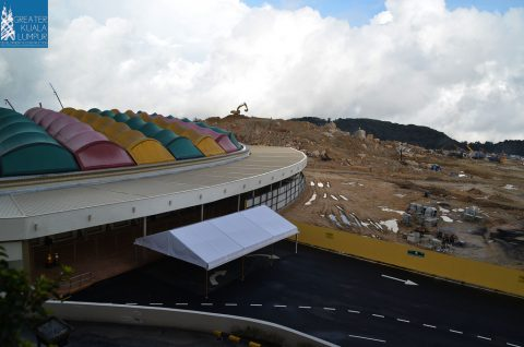 New entrance for arena of stars, Dec 2014