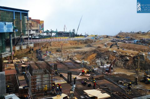 Ongoing construction, Dec 2014