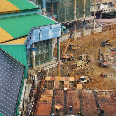 Half of the indoor theme park was taken down, Dec 2014