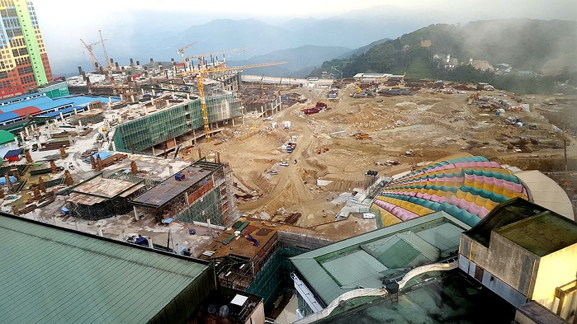 View from Genting Grand Hotel 15th Floor, Dec 2015