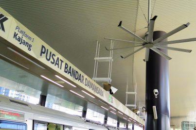 Boarding platform at Pusat Bandar Damansara station