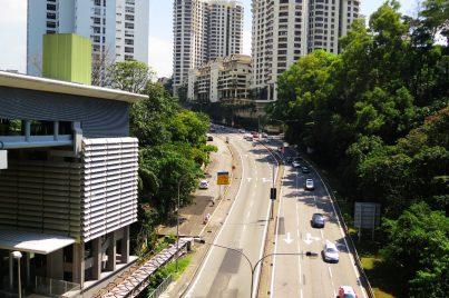 View of Bangsar township from Pusat Bandar Damansara station