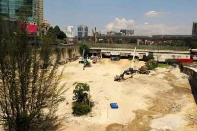 Ongoing construction of Pavilion Damansara Heights