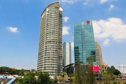 Business buildings at Damansara Town Centre and Damansara Heights