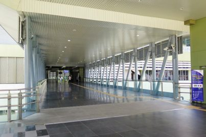 Walkway access to concourse level of Pusat Bandar Damansara station