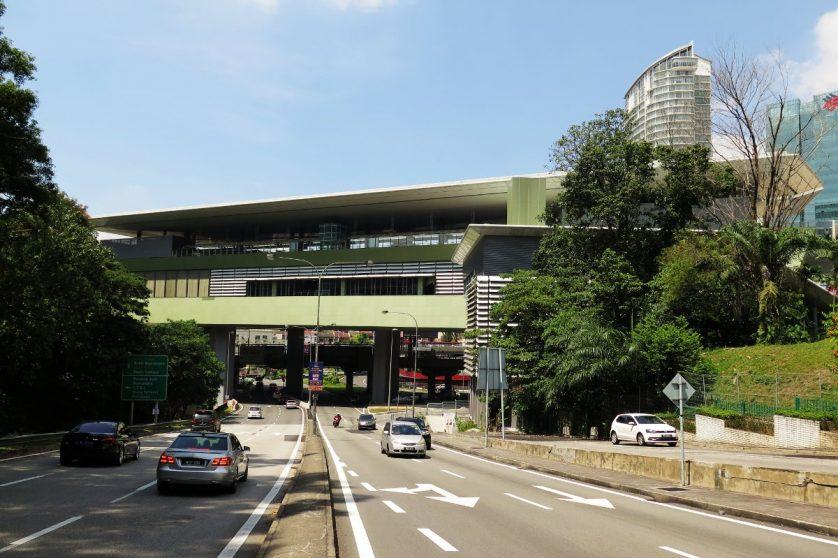 View of Pusat Bandar Damansara station from Bangsar