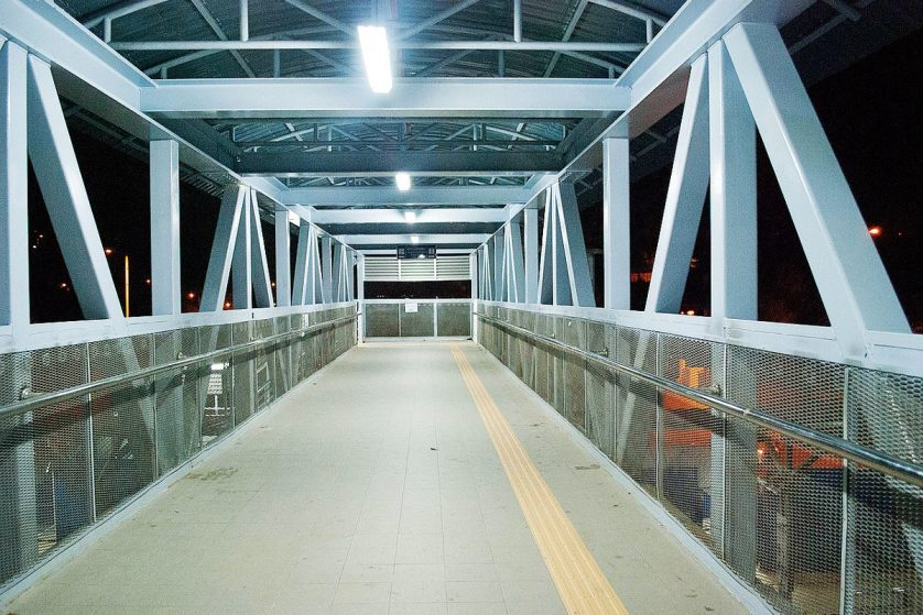 Connected pedestrian bridge between Kajang MRT station and Kajang KTM station