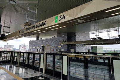 Boarding platform of Stadium Kajang station