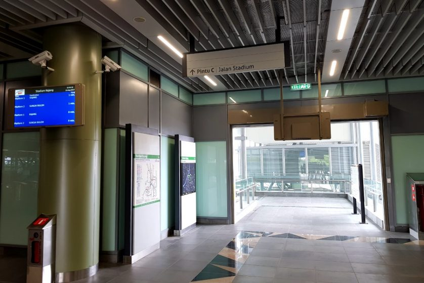 Exit to entrance C of the Stadium Kajang station