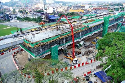 The Stadium Kajang Station under construction. May 2015