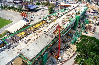 View of the platform level of the Stadium Kajang Station. May 2015