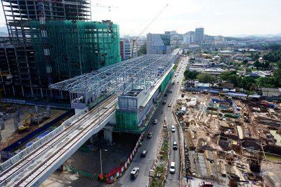 Construction of the Sungai Jernih Station in progress. Nov 2015