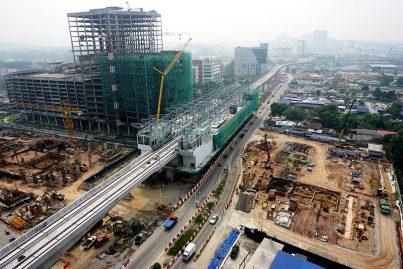 Construction of the Sungai Jernih Station in progress. Oct 2015