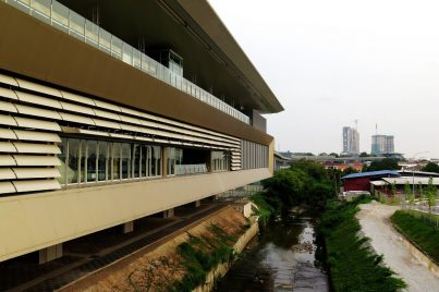 View of Bandar Tun Hussein Onn station from pedestrian walkway