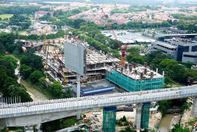 The private project which will house the multi-storey park and ride for the Bandar Utama Station. Aug 2015