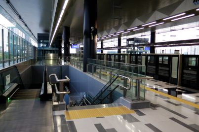 Boarding platform at Batu 11 Cheras station