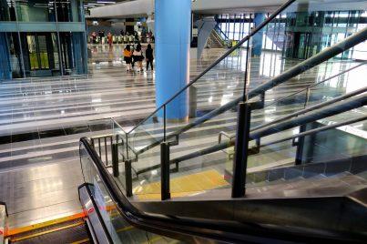 Escalator to concourse level of Batu 11 Cheras station