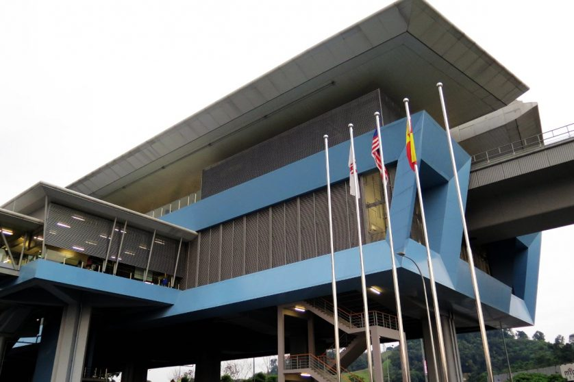 View of Batu 11 Cheras station near entrance B