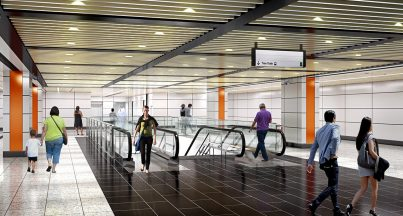 Artist impression of Cochrane station