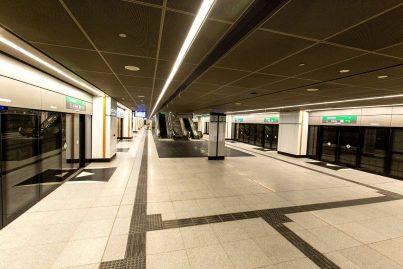 Boarding platforms at Cochrane station
