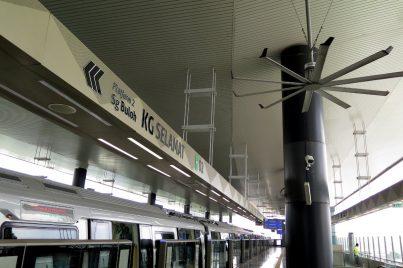 Platform 2 of Kampung Selamat station