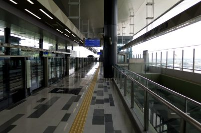 Boarding platform of Kampung Selamat station