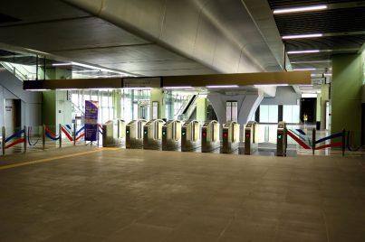 Access gates at Kampung Selamat station