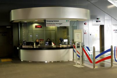 Customer service office at Kampung Selamat station