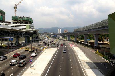 View of Jalan Sungai Buloh from Kampung Selamat station