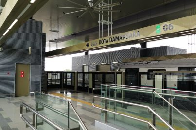 Boarding platform for Kota Damansara station