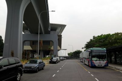 Feeder bus waiting near Entrance A of Kota Damansara station